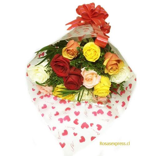 Florerías de Chile - ramo Multicolor