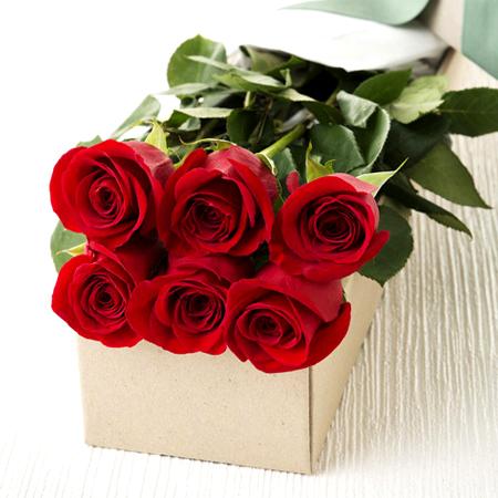 1516 Caja de 06 finas rosas importadas Producto RosasExpress.cl Florerias de Chile
