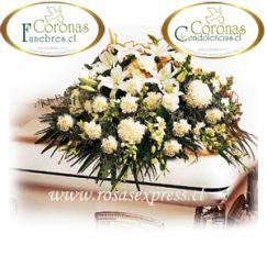 1557 Cojín de condolencia preparada con flores surtidas de la temporada.