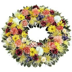 Corona de Condolencia Multicolor 1563