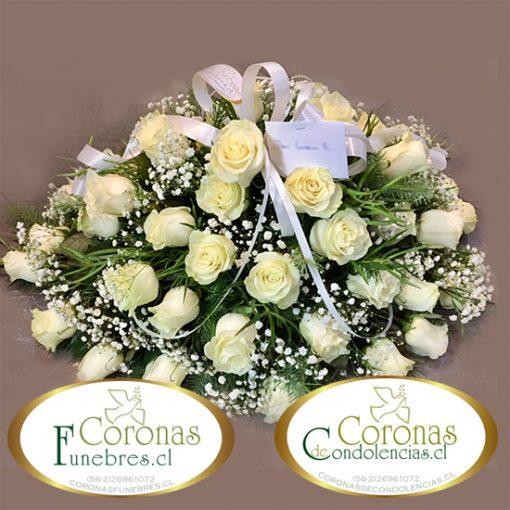 1727 Cojin Fúnebre de 40 Rosas Seleccionadas
