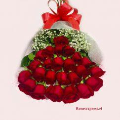 1539 Bouquet de 24 Rosas para Regiones RosasExpress