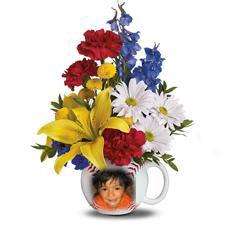 1822 Arreglo Floral mas Tazon personalizado